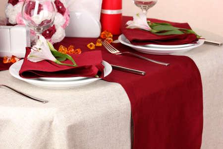 Elegant table setting in restaurant Stock Photo - 16472901