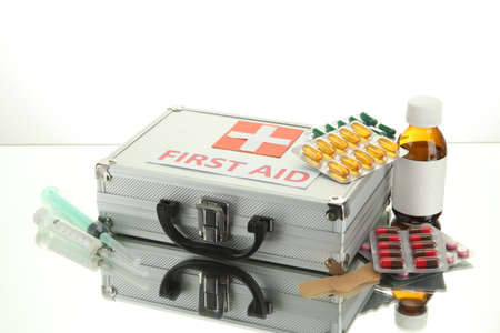 being the case: First aid box, isolated on white