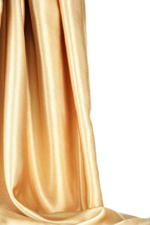 sensuous: beautiful silk drape, isolated on white