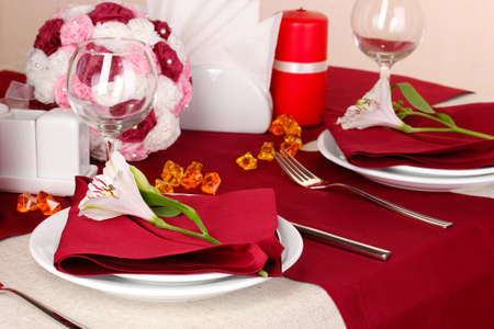 Elegant table setting in restaurant Stock Photo - 16501746