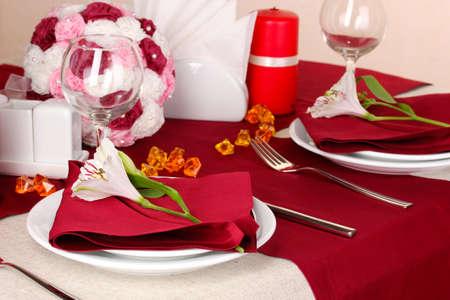 Elegant table setting in restaurant Stock Photo - 16501746