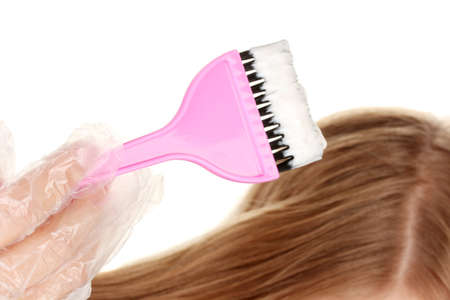 hair coloring, on white background photo