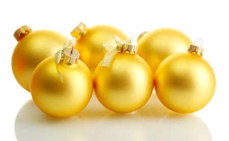 beautiful christmas balls, isolated on white Stock Photo - 16545328