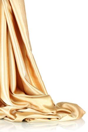 silk cloth: beautiful silk drape, isolated on white