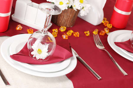 Elegant table setting in restaurant Stock Photo - 16605015