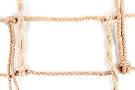 gibbet: Frame composed of rope isolated on white