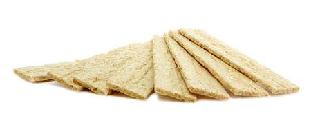 galettes: tasty crispbread, isolated on white Stock Photo