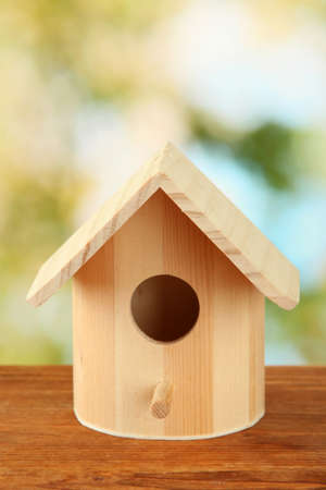 Nesting box on bright background photo