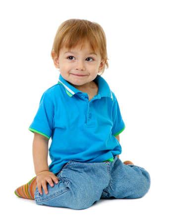 cute boys: cute little boy, isolated on white