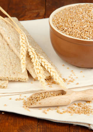 Wheat bran on the table Stock Photo - 16754711