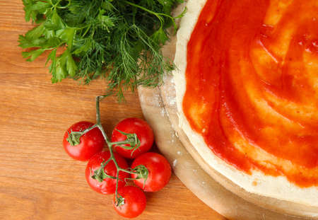 process of making  pizza photo