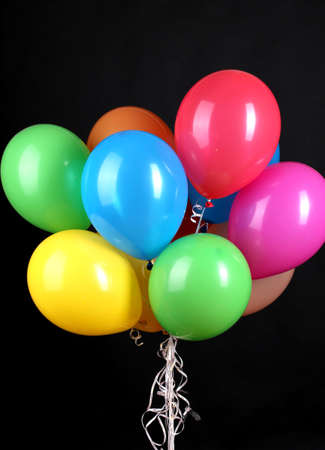 Colorful balloons isolated on black Stock Photo - 16739195