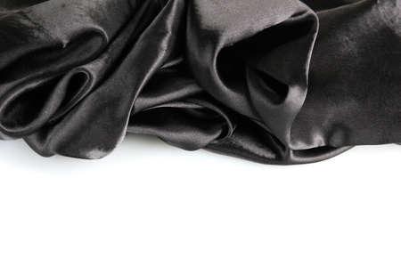 beautiful silk drape, isolated on white photo