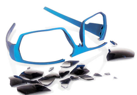 Broken glasses isolated on white Stock Photo - 16739398