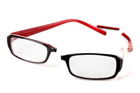 Broken glasses isolated on white Stock Photo - 16739323