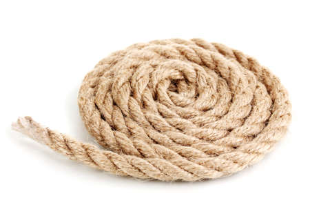 Skein of rope isolated on white Stock Photo - 16739750