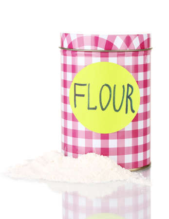 Flour container isolated on white Stock Photo - 16739396