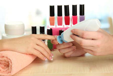 Manicure process in beauty salon, close up Stock Photo - 16772404