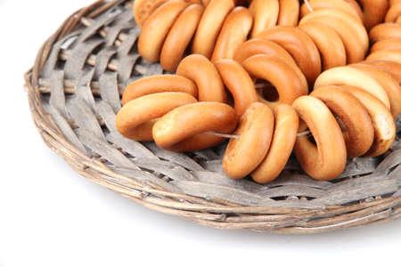 tasty bagels, isolated on white Stock Photo - 16830649