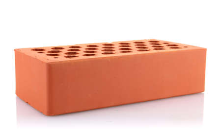 brick, isolated on white photo