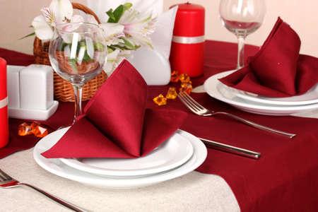 Elegante tabella in ristorante Archivio Fotografico - 16830711