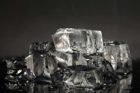 Ice cubes isolated on black Stock Photo - 16859537