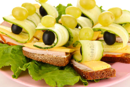 Canapes on plate close up Stock Photo - 16911878