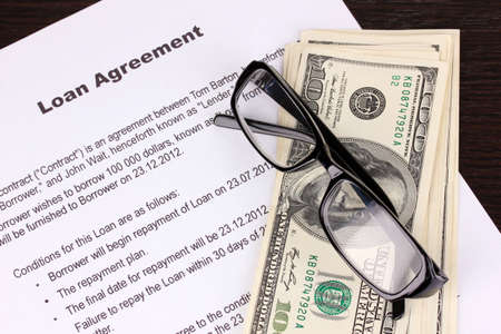 loan agreement close-up photo