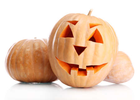 halloween pumpkins, isolated on white Stock Photo - 16938087