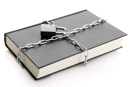 black book with chain, isolated on white Stock Photo - 16939073