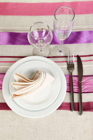 Table setting festive table Stock Photo - 16940006