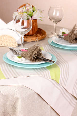 Rustic table setting Stock Photo - 16997216