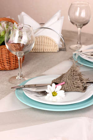 Rustic table setting photo