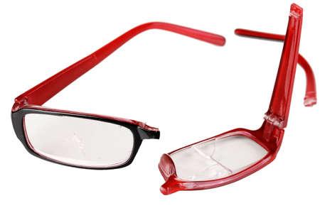 Broken glasses isolated on white Stock Photo - 16997008