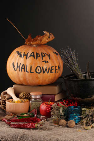 Scary halloween laboratory, close-up Stock Photo - 17001478