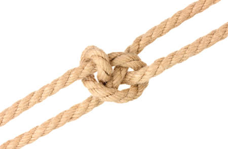Rope with knot isolated on white Stock Photo - 16998841