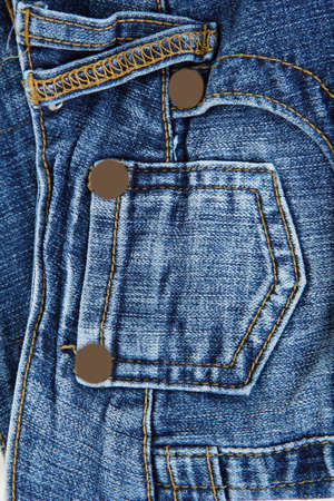 Blue jeans with pocket closeup photo