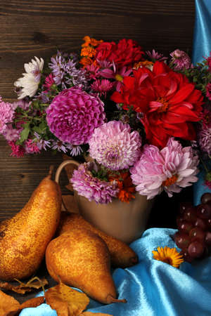 Wonderful autumn still life with fruit photo
