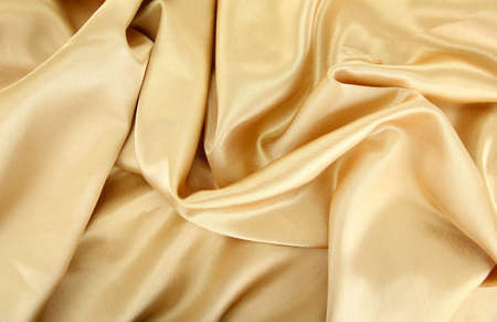 beautiful silk drape, isolated on white photo