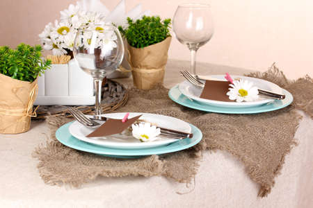 Rustic table setting Stock Photo - 17064321