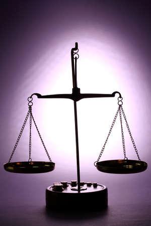 judicature: Classic scales on purple background