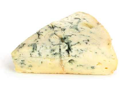 Blue cheese isolated on white photo