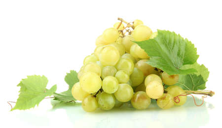 ripe sweet grapes isolated on white Stock Photo - 17111613
