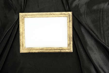 empty frame on beautiful silk photo