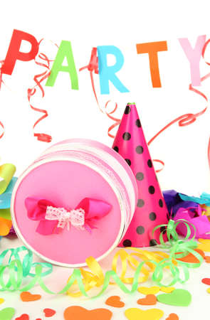 Party decorations isolated on white Stock Photo - 17112225