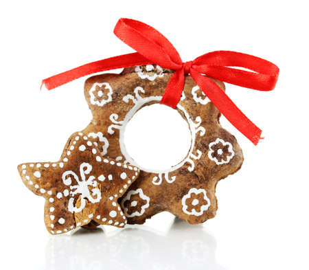 Christmas cookies isolated on white Stock Photo - 17112079