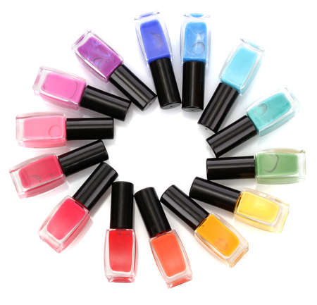 Group of bright nail polishes isolated on white Stock Photo - 17139867