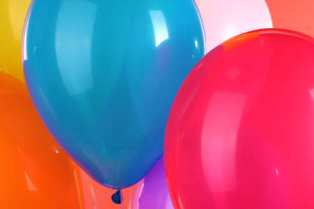 colorful balloons close-up photo