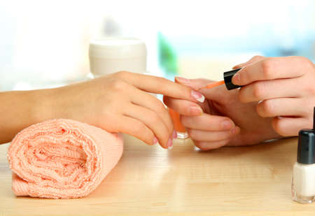 Manicure process in beauty salon, close up Stock Photo - 17140751