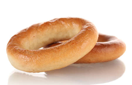tasty bagels, isolated on white Stock Photo - 17140204